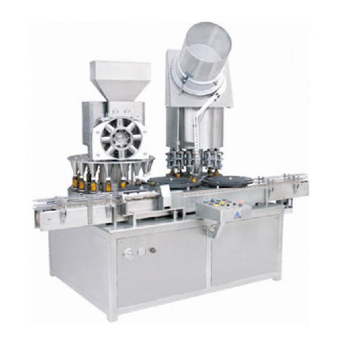 Monoblock-Rotary Dry Syrup Powder Filling & Sealing Machine – Rotary Powder Filler & Sealer